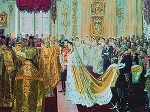 Wedding of Nicholas and Alexandra in the Winter Palace