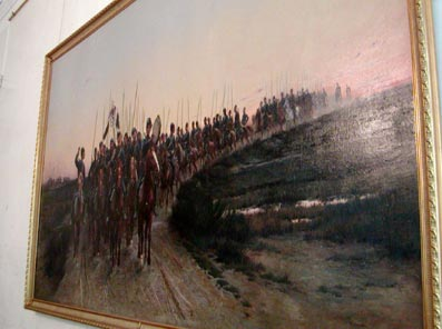 Detaille's Painting of Cossacks on Parade
