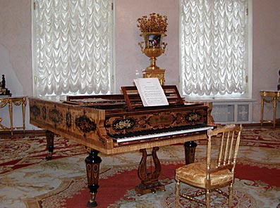 Piano in the Formal Reception Room