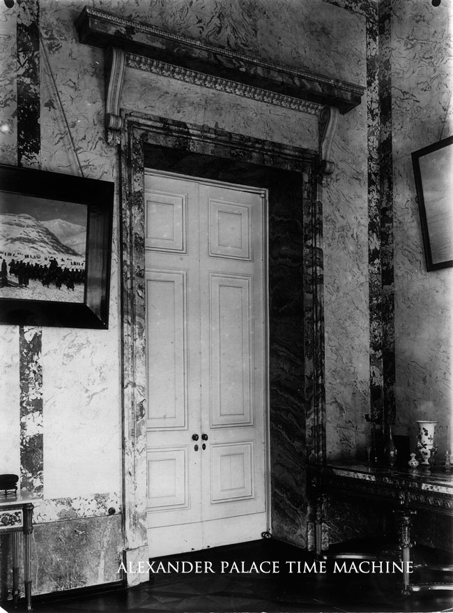 Door in the Marble Hall Alexander Palace