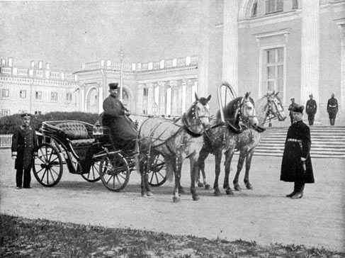 Carriage in front of the Alexander Palace
