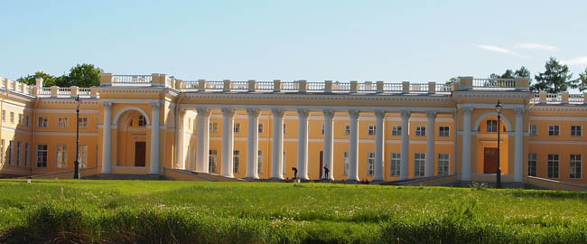 Front of the Alexander Palace in Tsarskoe Selo 2012