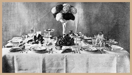 Table laid for Thanksgiving Dinner, English Style of Service
