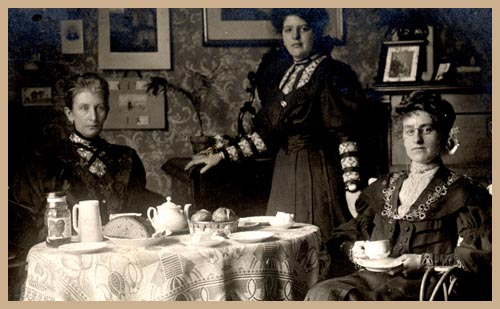 Group of Edwardian Ladies at Tea