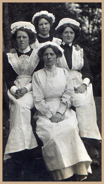 a Group of Edwardian Maids
