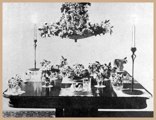May-Day Luncheon Table (Dessert Service)