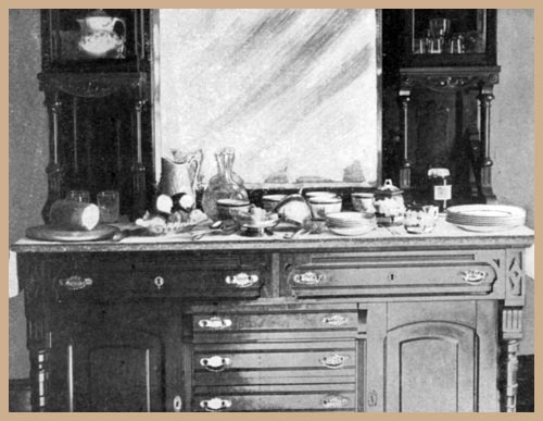 Sideboard Laid for Breakfast, Russian Style