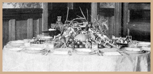 Table set for Thanksgiving, Russian Style of Service
