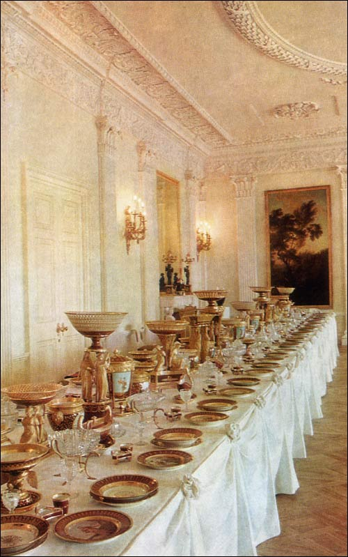 dining room - pavlovsk palace & park - country residence of the